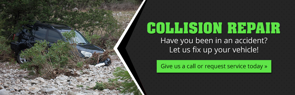 Have you been in an accident? Let us fix up your vehicle! Give us a call or request collision repair service today.