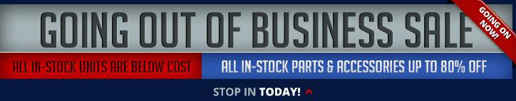 Going Out of Business Sale: Stop in today!