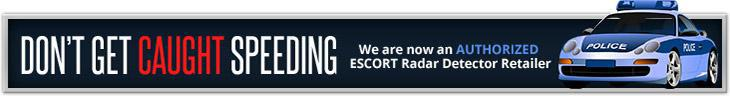 We Are Now an Authorized ESCORT Radar Detector Retailer