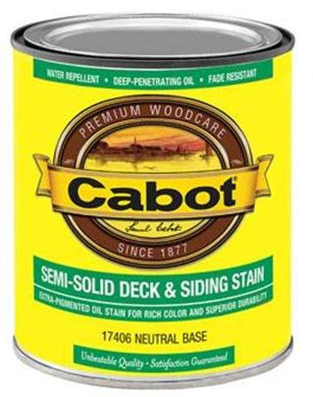 Cabot Semi-Solid Deck & Siding Stain at Colonial Hardware, Inc. in Memphis, TN