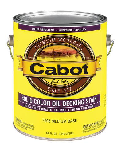 Cabot Solid Color Oil Decking Stain at Colonial Hardware, Inc. in Memphis, TN