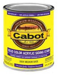 Cabot Solid Color Acrylic Siding Stain at Colonial Hardware, Inc. in Memphis, TN