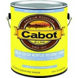 Cabot Solid Color Acrylic Deck Stain at Colonial Hardware, Inc. in Memphis, TN