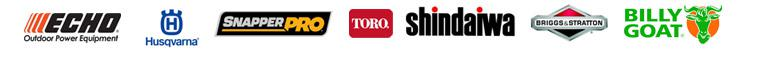 We carry products from ECHO, Husqvarna, Snapper Pro, Toro, Shindaiwa, Briggs & Stratton, and Billy Goat.