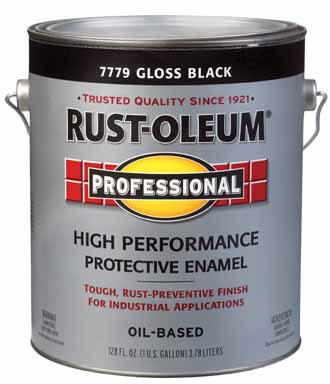 Rust-Oleum High Performance 7779 Gloss Black Paint at Colonial Hardware, Inc. in Memphis, TN