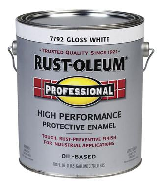 Rust-Oleum High Performance 7792 Gloss White Paint at Colonial Hardware, Inc. in Memphis, TN