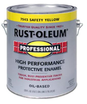 Rust-Oleum High Performance 7543 Safety Yellow Paint at Colonial Hardware, Inc. in Memphis, TN