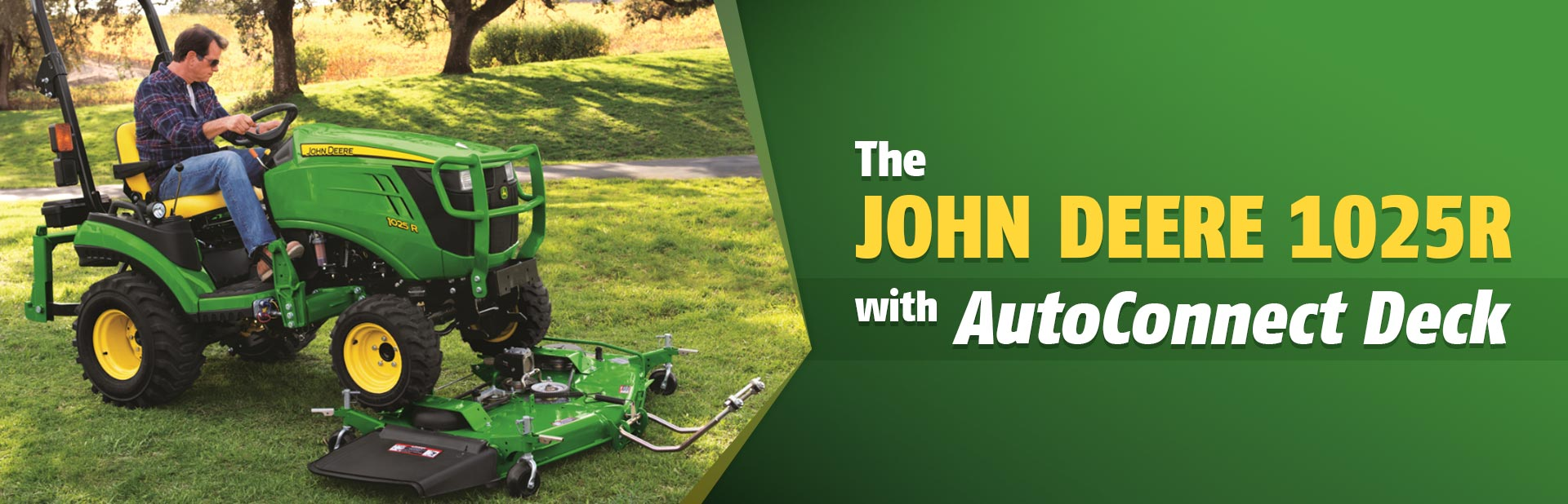 Erb Equipment carries the John Deere 1025R with AutoConnect Deck!