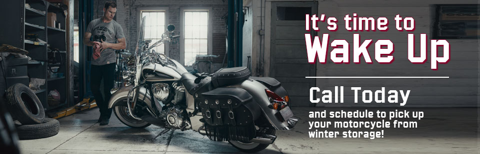 Pickup your bike from winter storage today!