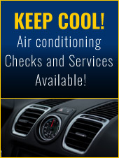 Keep Cool! Air conditioning Checks and Services Available