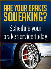 Are your brakes squeaking? Schedule your brake service today.