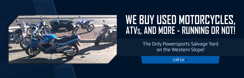 We buy used motorcycles, ATVs, and more—running or not!