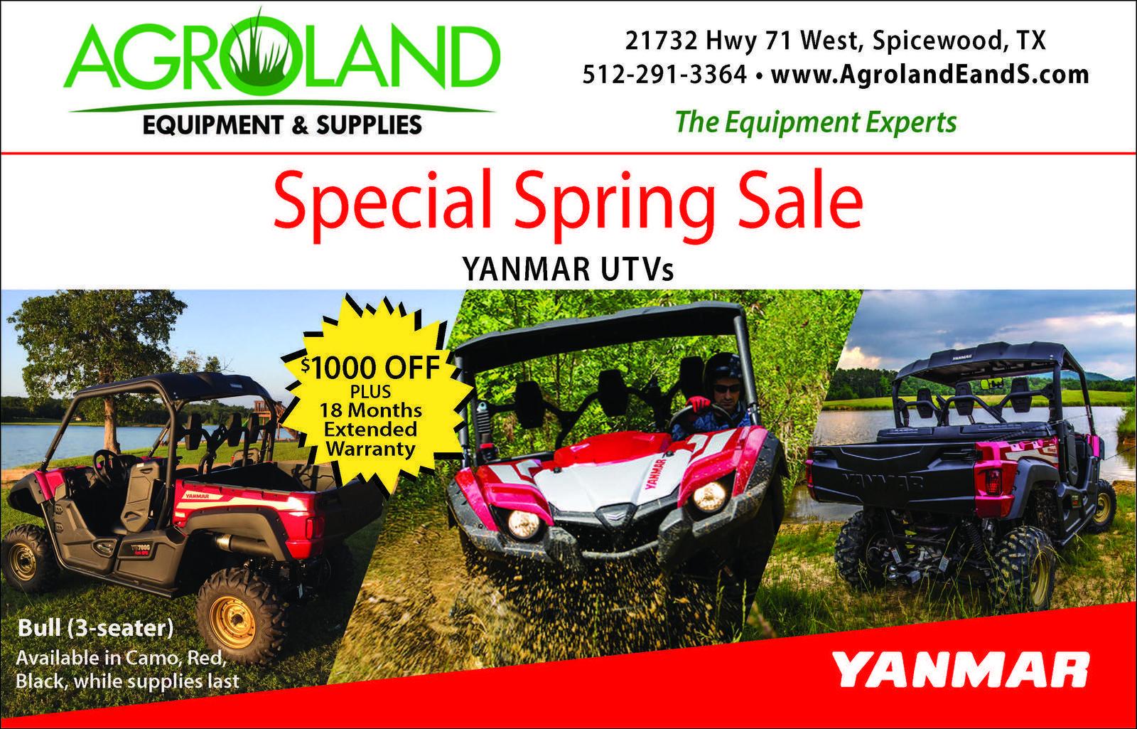 Home Agroland Equipment & Supplies Spicewood, TX (512) 291-3364