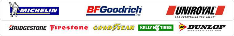 We are proud to carry Michelin®, BFGoodrich®, Uniroyal®, Bridgestone, Firestone, Goodyear, Kelly and Dunlop!