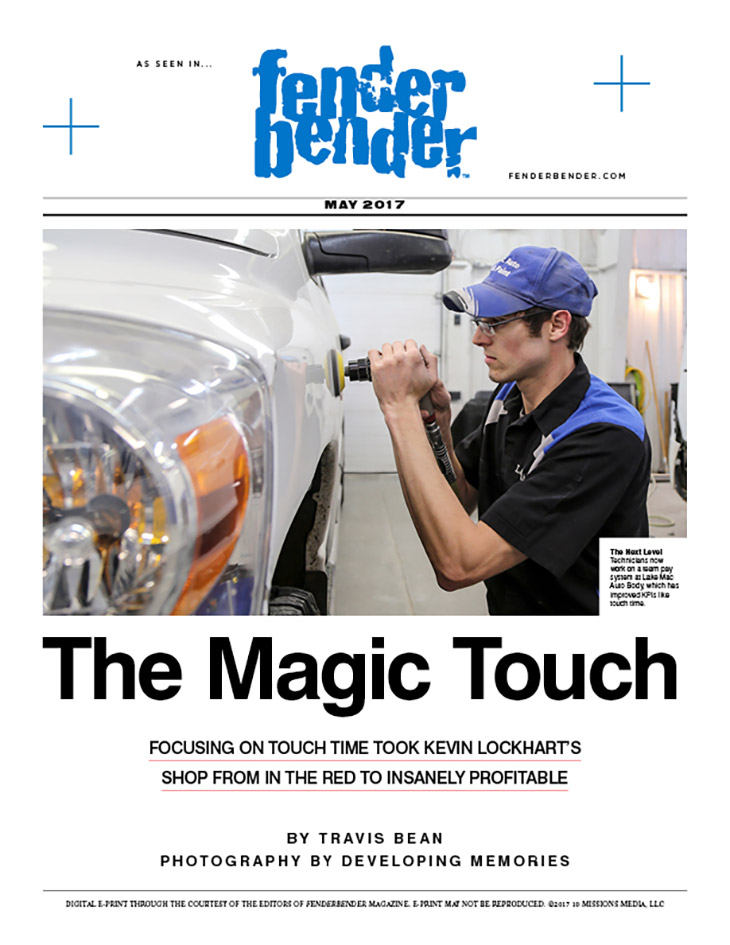 Lake Mac Auto talks about The Magic Touch in Fender Bender Magazine