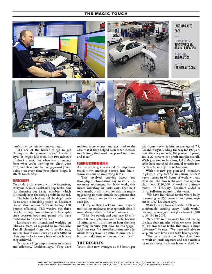 Lake Mac Auto in Fender Bender Magazine May 2017