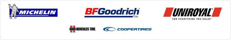 We carry products from Michelin®, BFGoodrich®, Uniroyal®, Hercules, and Cooper.