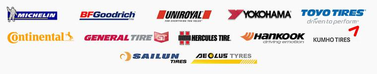 We carry products from Michelin®, BFGoodrich®, Uniroyal®, Yokohama, Toyo, Continental, General, Hercules, Hankook, Kumho, Aeolus, and Sailun.
