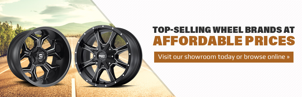 Top-Selling Wheel Brands at Affordable Prices: Visit our showroom today or browse online.