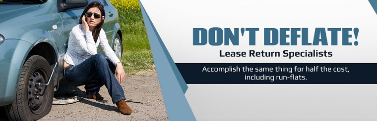 Lease Return Specialists: The tires we have are a fraction of the cost of new tires and will be acceptable to your leasing company.