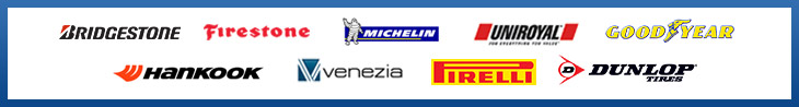 We proudly carry products from Bridgestone, Firestone, Michelin®, Uniroyal®, Goodyear, Hankook, Venezia, Pirellli, and Dunlop.