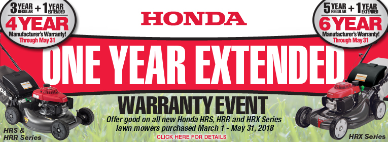 Don't Forget - Take advantage of the One-Year Extended Warranty Event