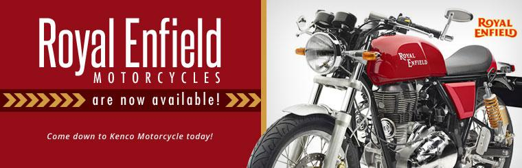 Royal Enfield motorcycles are now available! Come down to KENCO Motorcycle today!