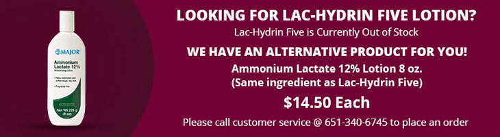 Looking for Lac-Hydrin Five Lotion? Lac-Hydrin is currently out of stock.