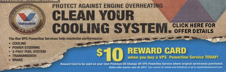 Clean your cooling system $10 reward