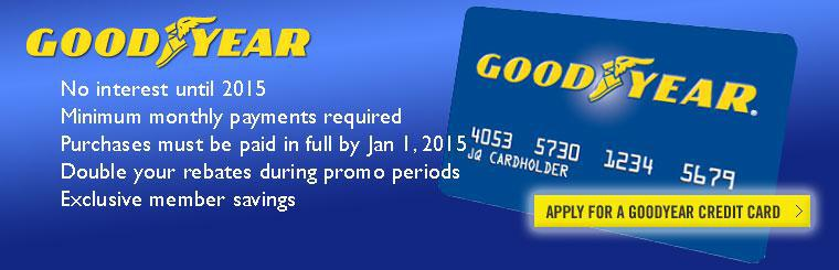 Apply for Goodyear credit card