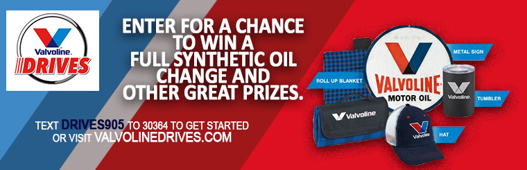 Enter to win coupons and free oil change