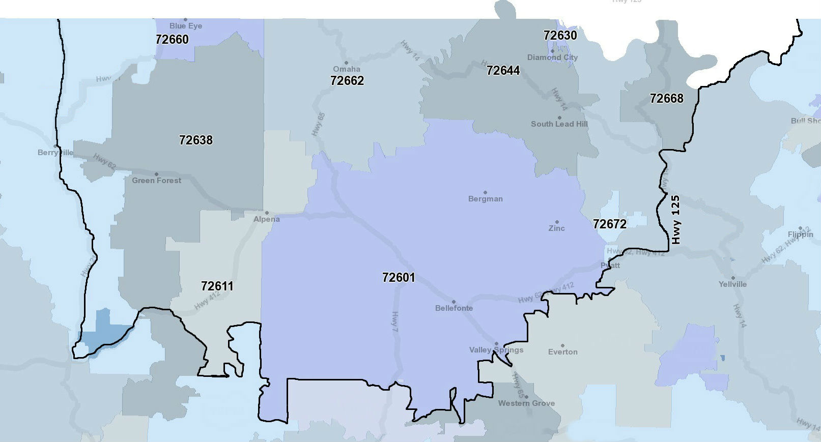 Zip Code Map Arkansas.Service Area Map Coxhealth Home Support Springfield Mo 800 362 9480
