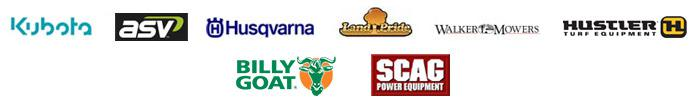 We carry products from Kubota, ASV, Husqvarna, Land Pride, Walker Mowers, Hustler Turf Equipment, Billy Goat, and Scag.