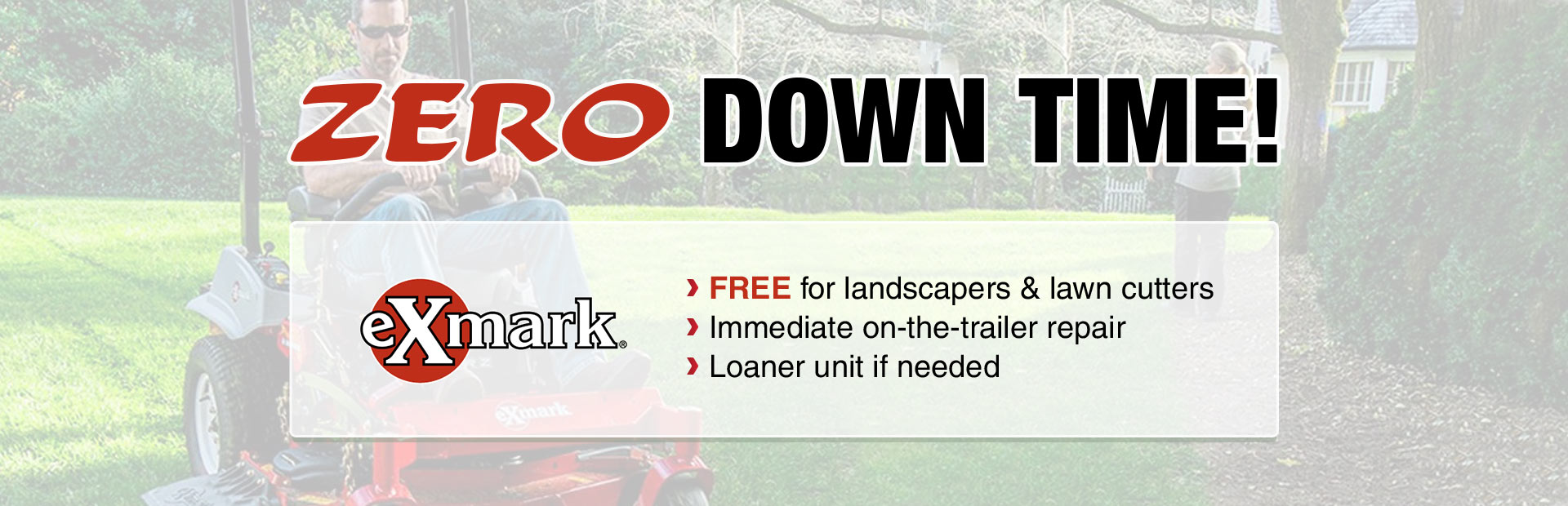 Zero Down Time: Call (615) 667-1647 for full details.