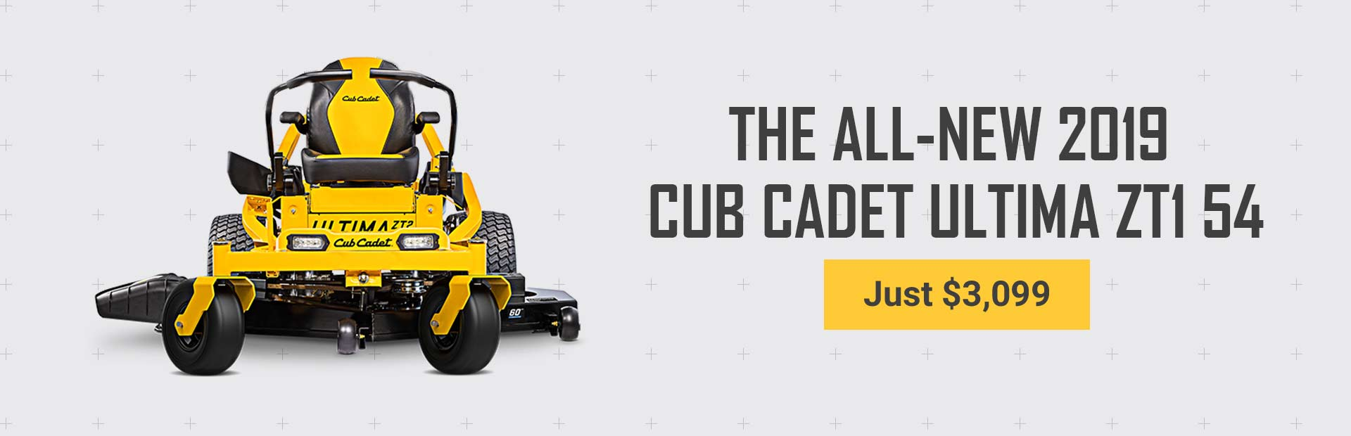 Get the all-new 2019 Cub Cadet Ultima ZT1 54 for just $3,099!