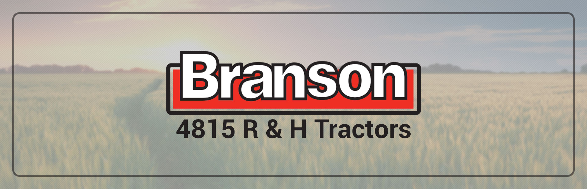 We carry Branson 4815 R and H tractors! Click here to view the 2018 Branson 4815R 47 HP 4x4 with Loader.