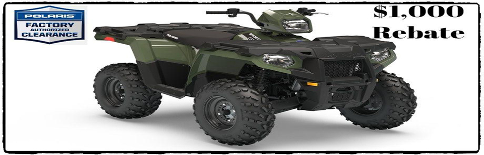 Polaris Factory Authorized Clearance $1,000 rebate