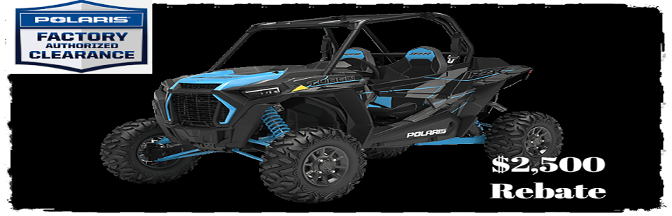 Polaris Factory Authorized Clearance $2,500 rebate