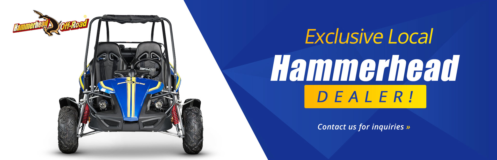 Tri County Polaris is your exclusive local Hammerhead dealer! Contact us for inquiries.
