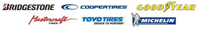 We carry products from Bridgestone, Cooper, Goodyear, Mastercraft, Toyo, and Michelin®.