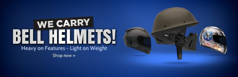 We carry Bell helmets! They're heavy on features, but light on weight! Click here to shop now.