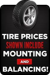 Tire prices shown include mounting and balancing!