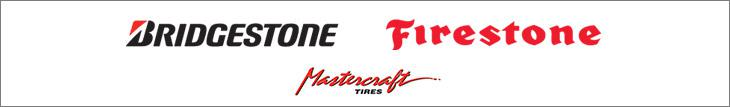 We carry products from Bridgestone, Firestone, and Mastercraft.