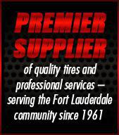 Premier supplier of quality tires and professional services – serving the Fort Lauderdale community since 1961.