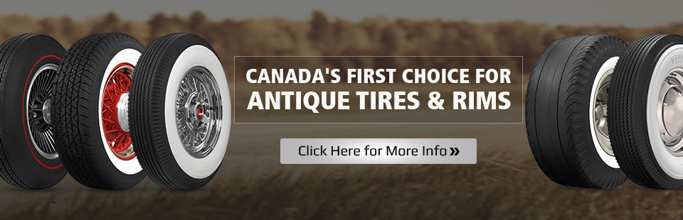 Queensway Tire Service LTD is Canada's first choice for antique tires and rims! Click here for more info.