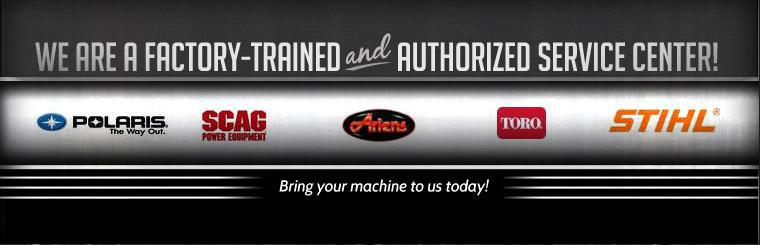 We are a factory-trained and authorized service center! Bring your machine to us today!
