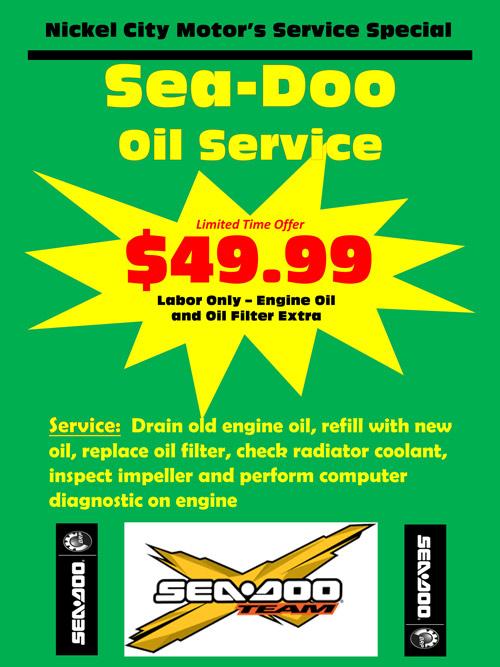 Sea-Doo Oil Service
