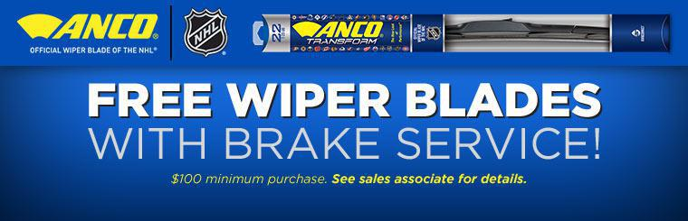 Click here to contact us on how to receive free wiper blades with brake service!