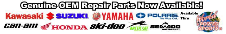 Genuine repair parts for Kawasaki, Honda, Yamaha, Suzuki and more!
