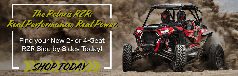 Find your new 2- or 4- seat RZR side by side today!